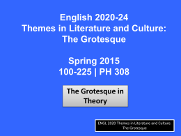 The Grotesque in Theory