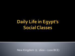 Daily Life in Egypt*s Social Classes