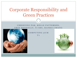 Corporate Responsibility and Green Practices