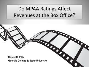 Do MPAA Ratings Affect Revenues?