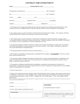 aew apex contract for consignment 2014