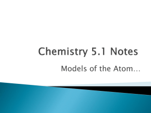 Chemistry 5.1 Notes