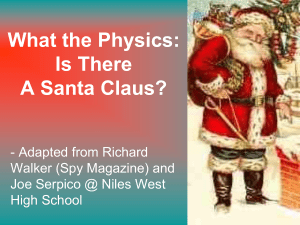 Physics of Santa 2.0 - The Skeptical Teacher
