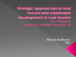 Strategic approaches to rural tourism and sustainable development