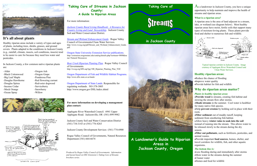 Jackson County Riparian Brochure
