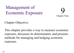 Management of Economic Exposure