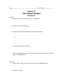Chapter 32 The Global Sneaker Sections 1