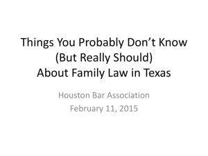 Handout - Houston Bar Association
