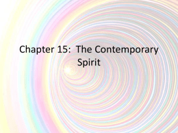 Chapter 15 The Contemporary Spirit