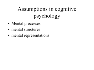 Assumptions in cognitive psychology