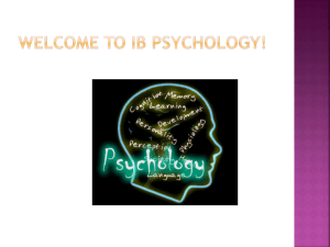 Welcome to IB Psychology!