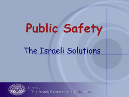 Presentation on Israel's Security Industry