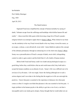 Psychological Criticism - Ian Beshaler English Portfolio