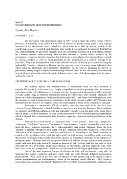 [page 1] Korean Shamanism and Cultural Nationalism Hyun