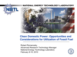 Clean Domestic Power: Opportunities and Considerations