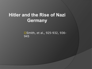 Rise of Nazi Germany and Beginning of World War II in Europe