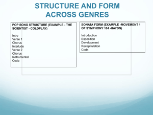 STRUCTURE AND FORM ACROSS GENRES