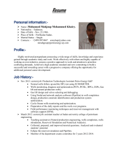 Resume Personal information - Sudan University of Science and