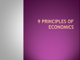9 Principles of economics