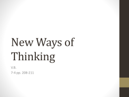 7-4 New Ways of Thinking Presentation