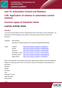 Cambridge Technicals in Engineering Unit 14: Automation Control