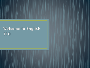 Introduction to course - Tamara Lynde's English Page