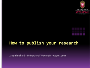 How to publish your research - MRSEC Education | University of