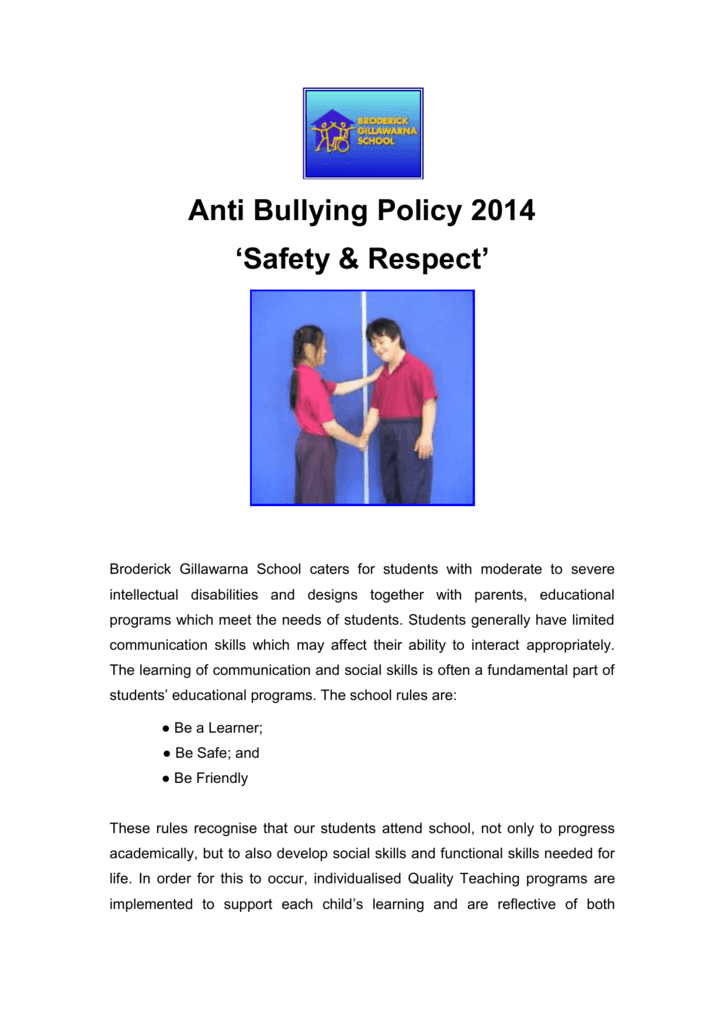 Learning How Bullying Happens In Order >> Anti Bullying Broderick Gillawarna School
