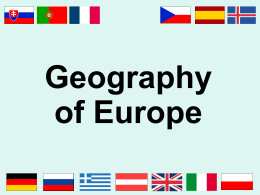 Europe Physical Features and Nations PPT
