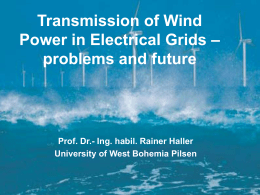 Transmission of Wind Power in german electricity grids