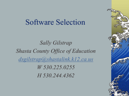 Selecting Software - Teaching with Technology Home Page