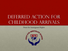 Deffered Action for Childhood Arrivals (DACA)