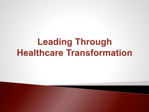 Leading Transformation through Function, Process & Leadership