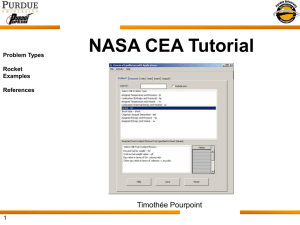 NASA CEA Code Tutorial