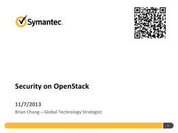 Security on OpenStack : Auditing and Compliance