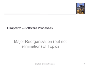 Chapter 2 - Software Processes