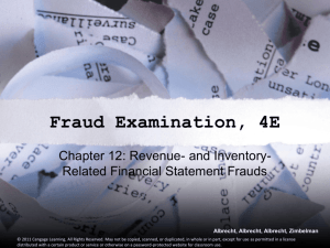 Inventory & Cost of Goods Sold Frauds
