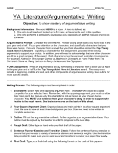 to show mastery of argumentative writing