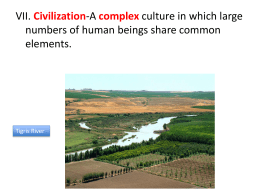 I. Beginning of civilization