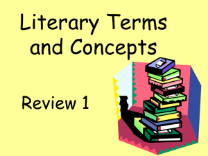 Literary Terms and Concepts