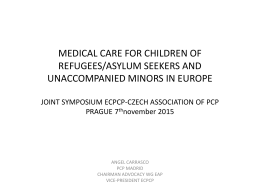 Medical care for children of refugees (Spain)