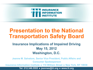 Impaired Driving and Insurance - Insurance Information Institute