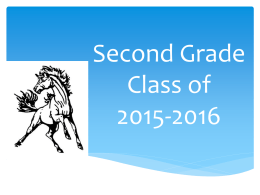 File second grade orientation 2015-2016