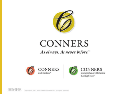 Conners CBRS - Psychological Assessment Resources, Inc.