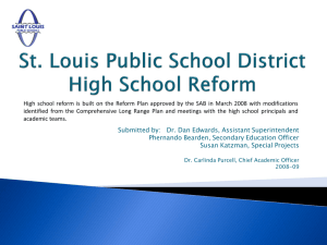 High School Reform Design