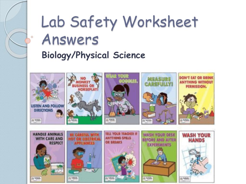 lab safety worksheet answers. Black Bedroom Furniture Sets. Home Design Ideas