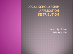 Local Scholarship Application
