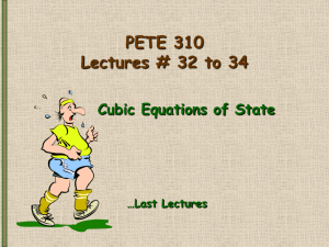 PETE 310 Lectures 34-36