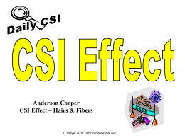 CSI Effect Hairs & Fibers