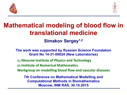Mathematical modeling of blood flow in translational medicine